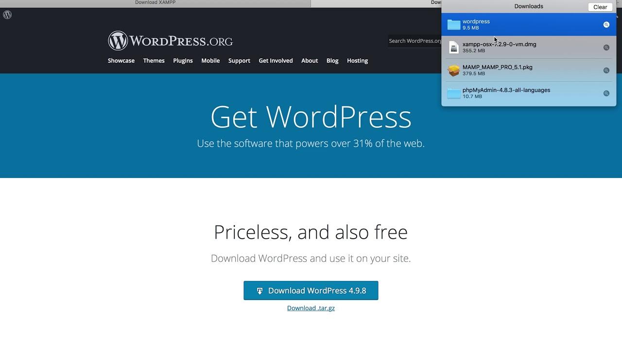How to Install WordPress in XAMPP in Mac 2018