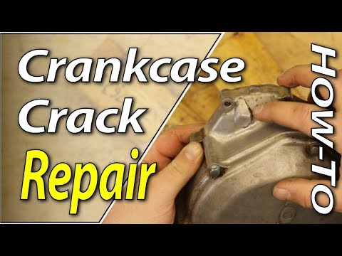 How To Repair A Cracked Crankcase Cover On Your Dirt Bike | FYDB