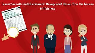 Innovation with limited resources: Management lessons from the German Mittelstand