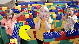 PAC-MAN in a Giant LEGO MAZE!
