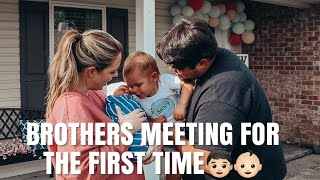 BRINGING BABY HOME FROM HOSPITAL AND SIBLINGS MEETING FOR THE FIRST TIME | KATELYN JOHNSON
