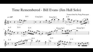 Video Bill Evans - Time Remembered (Jim Hall solo) download MP3, 3GP, MP4, WEBM, AVI, FLV Agustus 2018