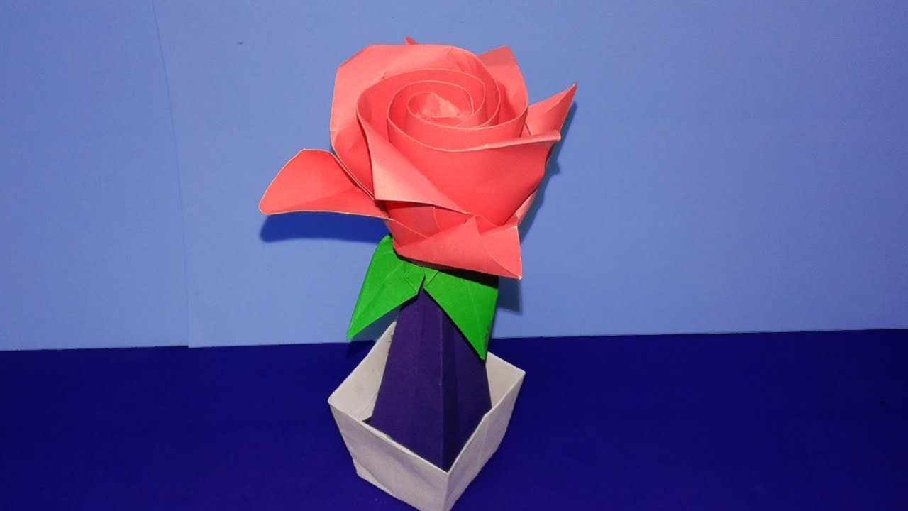 Origamihow To Make Easy Origami Flower Rosediy Paper Craft Youtube