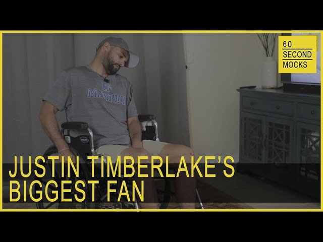 Justin Timberlake's Biggest Fan // 60 Second Mocks // Mini-Mocks Original One Minute Documentary