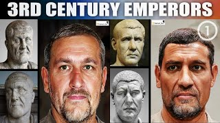 Roman Emperors | Realistic Facial Recreations Using AI and Photoshop (3rd Century CE, Part 1)
