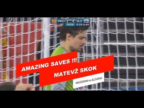 ☆Neverjetne obrambe☆ Matevž Skok - Makedonija vs Slovenija |  EURO 2018 |