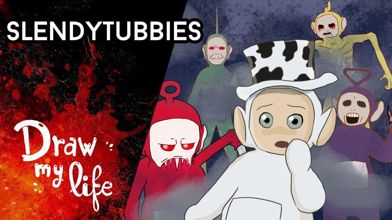 SLENDYTUBBIES, los TELETUBBIES más RAROS y OSCUROS | Creepypasta | Draw My Life