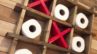How To Make a Tic Tac Toe Toilet Paper Holder
