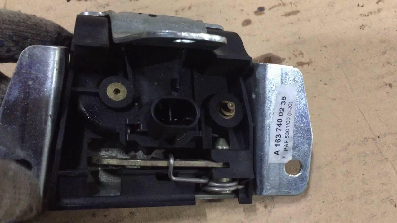 ремонт замка задней 5 двери мерседес мл164