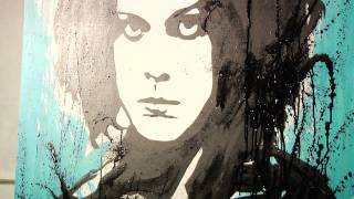 "The Dead Weather - Jack White Painting - ""Blue Blood Blues"""
