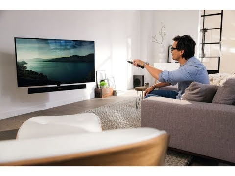 vogels next 8375 elektrisch schwenkbare tv wandhalterung mit soundbar youtube. Black Bedroom Furniture Sets. Home Design Ideas