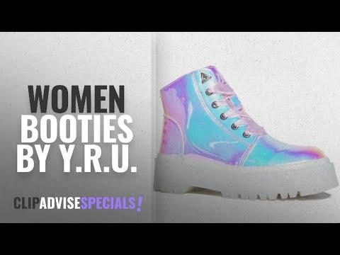 Top 10 Y.R.U. Women Booties [2018]: YRU Slayr Atlantis, combat boot, 7