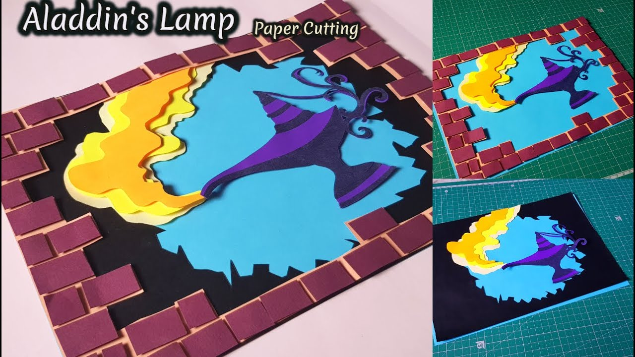 Aladdin's Lamp Paper Cutting Art
