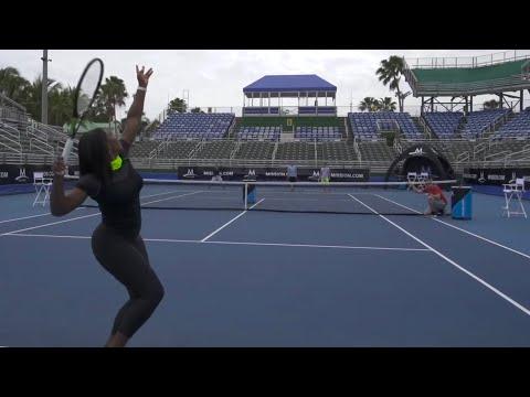 Tennis Trick Shots ft. Serena Williams | Dude Perfect