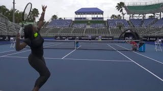 Tennis Trick Shots ft. Serena Williams | Dude Perfect(It's time for tennis trick shots with the legend herself! ▻Click HERE and use the code