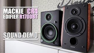 Mackie CR4 vs Edifier R1700BT  ||  Sound Demo w/ Bass Test