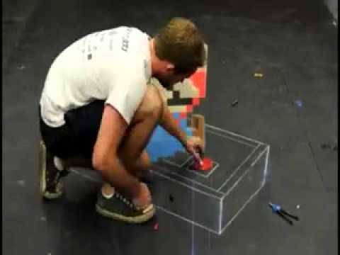 видео: Как делаются 3d рисунки на асфальте.3gp