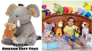 Amazon Soft Toy Review Elephant with naughty monkey premium soft toy for babies