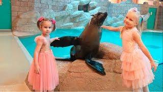 LOL Surprise на пляже Алина Алиса и Юляшка идут на шоу морских котиков Кукла ЛОЛ