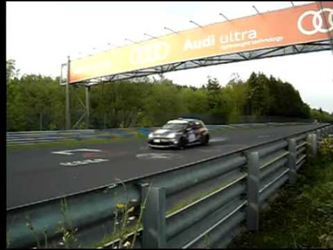 Nurburgring 24 Hours 2012 - Final straight in slow motion 240fps