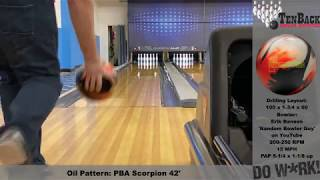 Hammer Redemption Solid Bowling Ball (House and Scorpion pattern - lower rev bowler)