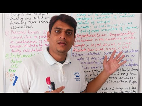Part 12: Types of Error in Pharmaceutical Analysis | Types of Error in Pharmaceutical Analysis