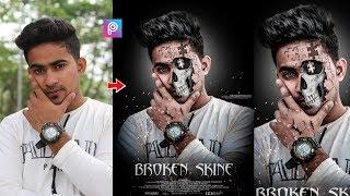 PicsArt Broken Skin Instagram Viral Photo Editing Tutorial In Picsart Step By Step In Hindi 2019