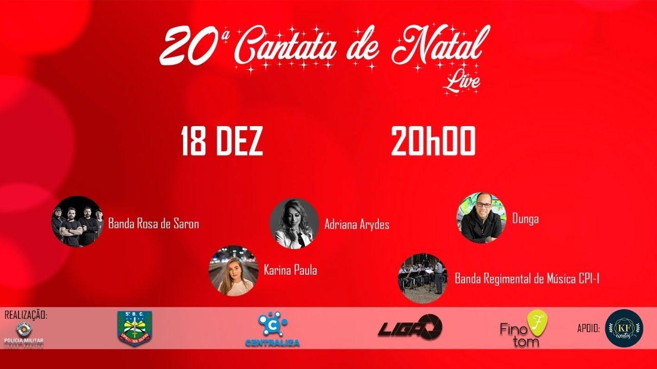Live 20º cantata de Natal   Policia Militar