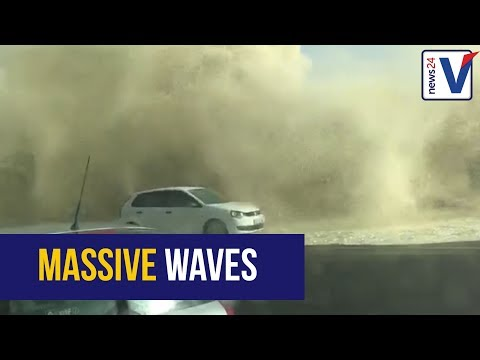 WATCH Huge waves slam into the promenade during heavy storms