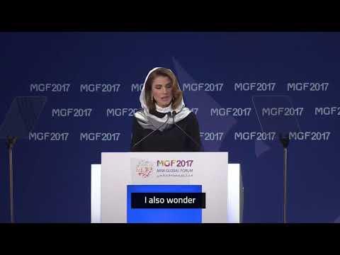 HM Queen Rania of Jordan at Misk Global Forum 2017