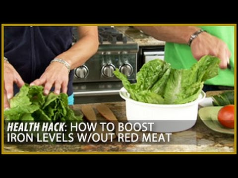 How to Boost Iron Levels Without Red Meat: Health Hacks- Thomas DeLauer