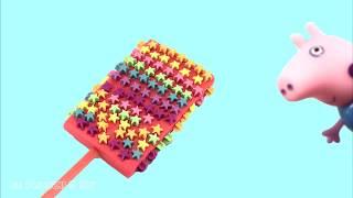 Peppa pig  Play Doh Ice Cream  star ไอศครีมแป้งโดว์และตัวเลข |ของเล่นเด็ก