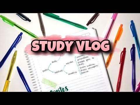 Study Vlog usando materiais BARATINHOS   dia de resumos no caderno novo!