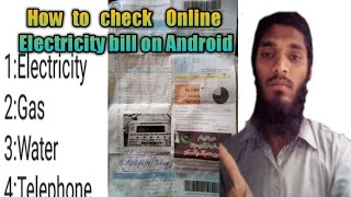 How to check Electric bill