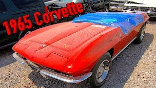 Copart Walk Around Day 1965 Corvette + Carnage 7-24-18