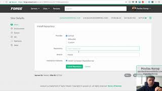 DEMO: New Server and Deployment with Laravel Forge