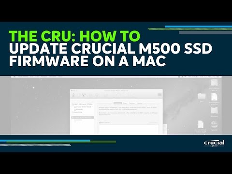 How To Update Crucial M500 SSD Firmware On A Mac
