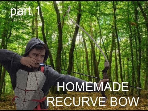 Making a takedown recurve bow Out Of Skis, part 1