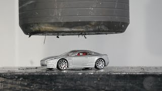 Crushing 007 Aston Martin with Hydraulic Press