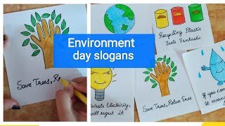 How to write Environment Day slogan | Environment Day slogans
