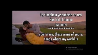 TUM MERE HO FULL SONG LYRICS WITH TRANSLATION | Hate Story 4 | Jubin Nautiyal | Amrita Singh |