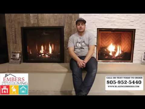 Mendota Burn Video Gas fireplace Central Coast Showroom