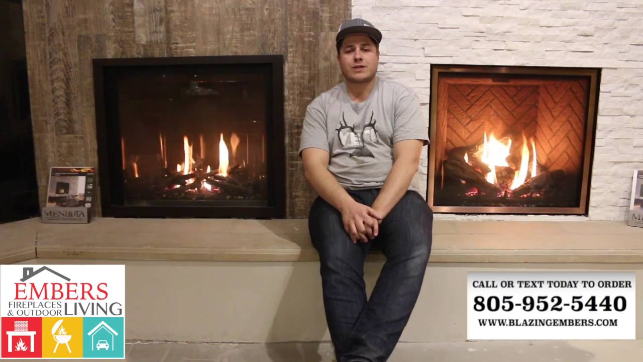 mendota burn video gas fireplace central coast showroom youtube