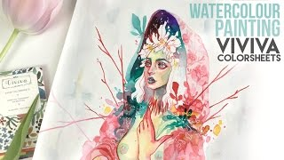 """Gambar cover """"Gaia"""" Watercolour Painting with Viviva Colorsheets // Let's talk about Fate"""