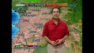 Weather update as of 6:10 a.m. (April 26, 2018)