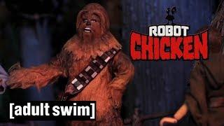 4 Chewbacca Moments | Robot Chicken Star Wars | Adult Swim