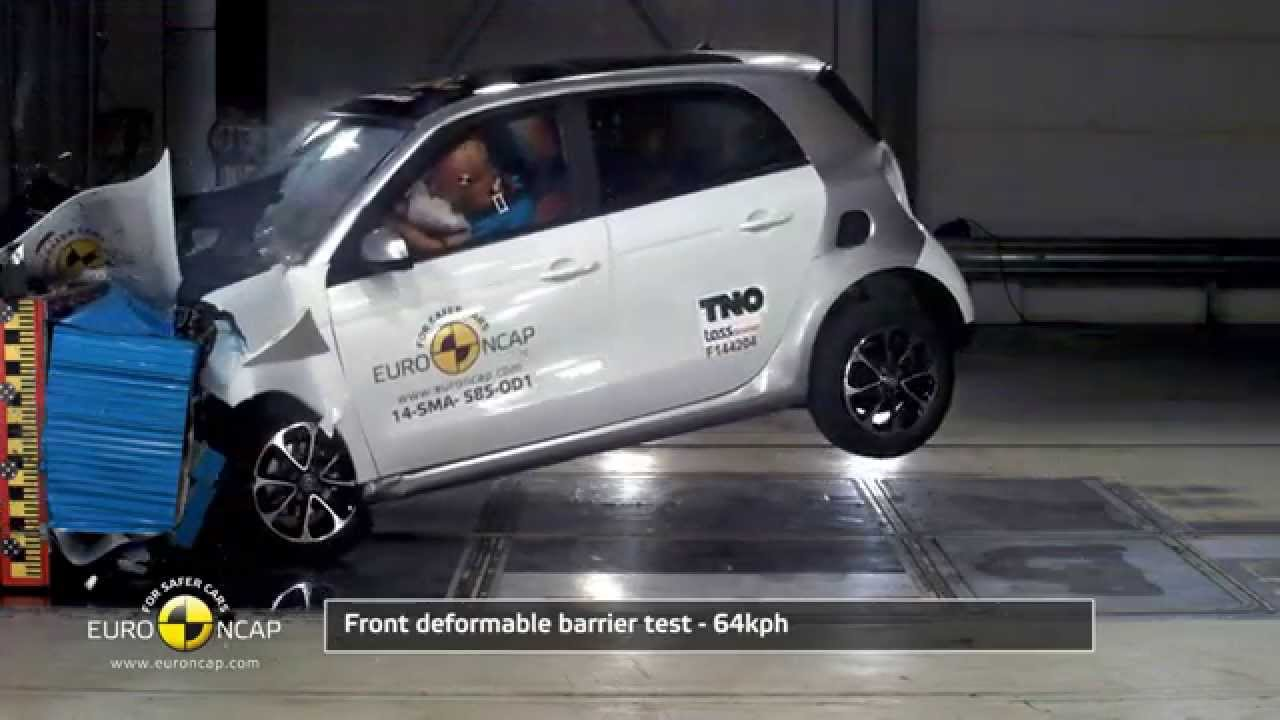 euro ncap crash test of smart forfour 2014 youtube. Black Bedroom Furniture Sets. Home Design Ideas