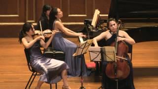 Schumann Piano Trio No.1 Clara Trio filmed by Simon