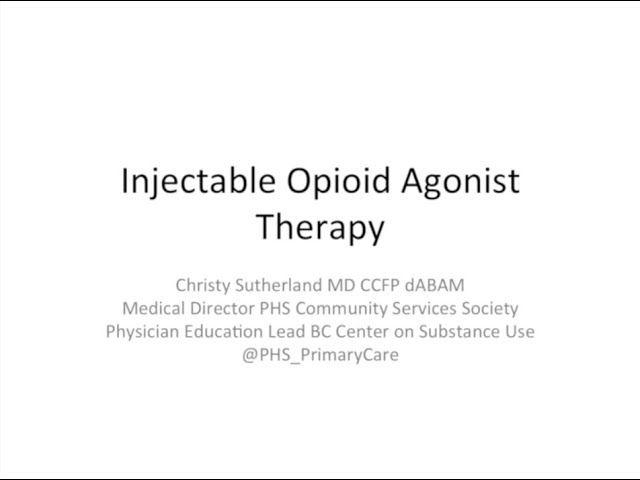 Coaching call 6: Injectable Opioid Agonist Therapy