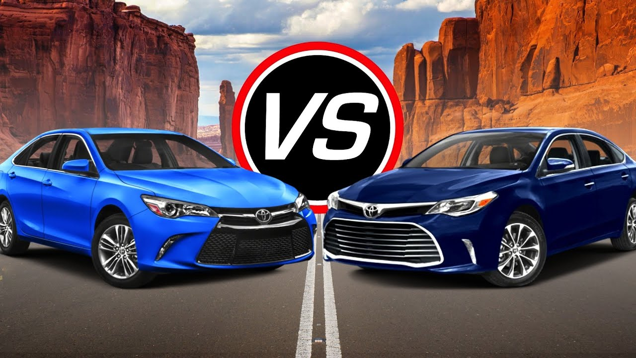 2016 Toyota Camry V6 Vs Avalon Spec Comparison